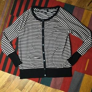 LANE BRYANT Striped Stretch Cardigan Sz 14/16